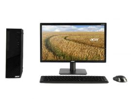 Acer Vertion Business Desktop (X2670G) Intel Ci3 10th Gen (8 GB RAM/1TB HDD/Windows 10 Professional)  with 54.6 cm (21.5 inches) Monitor