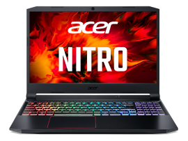 Acer Nitro 5 gaming laptop AMD Ryzen 5-4600H - (8GB/1 TB HDD/256 GB SSD/Nvidia GTX 1650 with 4 GB GDDR6 memory/ Windows 10 home) AN515 with 39.6 cm (15.6 inches) FHD IPS display / 2.3 Kgs