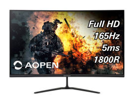 "Acer Monitor - Curved Series - Gaming Freesync Monitor |Acer AOpen 32HC5QRP 31.5"" Curved 165Hz Gaming Monitor"
