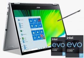 Acer Spin 3 Convertible Laptop with Active Stylus Pen ( 11th Gen Intel Core i5 / 8GB RAM/512GB SSD/ Intel Iris Xe Graphics/Windows 11 Home/MS Office 2021) | SP313-51N  with 33.7 cm (13.3 inch)  IPS display