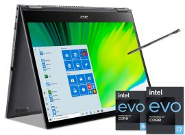Acer Spin 5 Convertible Laptop with Active Stylus Pen (  11th Gen Intel Core i7/16GB RAM/512GB SSD/ Iris Xe Graphics/Windows 10 Home/ MS Office) | SP513-55N with 34.2 cm (13.5 inch) IPS display