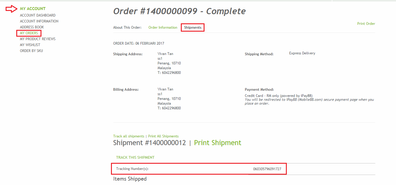 find your order tracking number